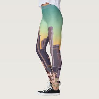 Los Angeles Skyline Illustration Leggings