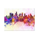 Los Angeles skyline in watercolor background Impresiones De Lienzo