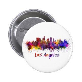 Los Angeles skyline in watercolor Pins