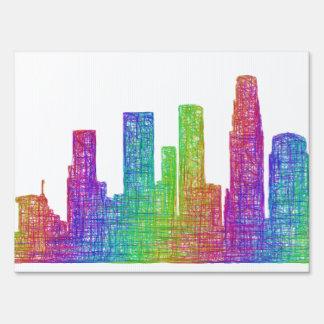 Los Angeles skyline Lawn Sign