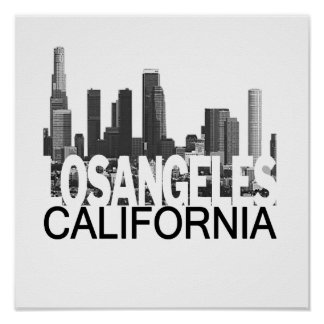 Los Angeles Skyline Poster
