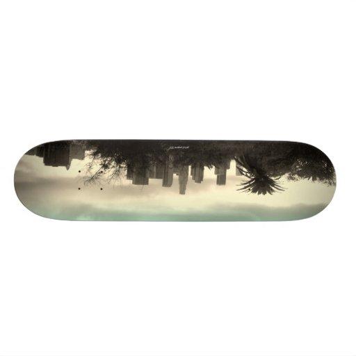 Los Angeles skyline skateboard