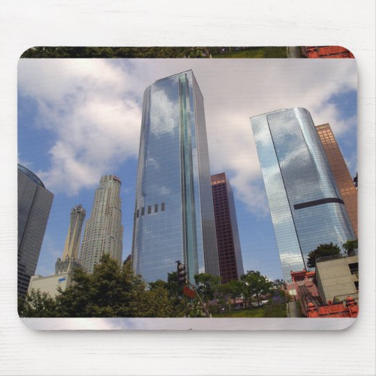LOS ANGELES SKYLINE SKYSCRAPERS CITY PHOTOGRAPHY A MOUSE PAD
