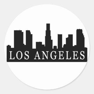Los Angeles Skyline Round Sticker