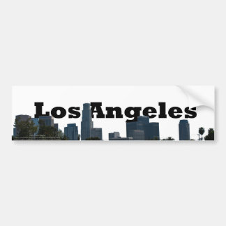 Los Angeles Skyline with Los Angeles in the Sky Bumper Sticker