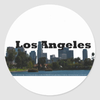 Los Angeles Skyline with Los Angeles in the Sky Classic Round Sticker
