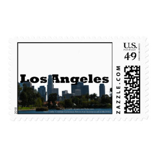 Los Angeles Skyline with Los Angeles in the Sky Postage
