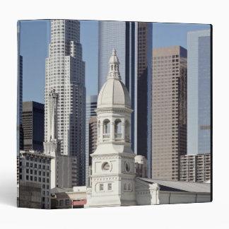 Los Angeles skyscraper buildings at midday 3 Ring Binders