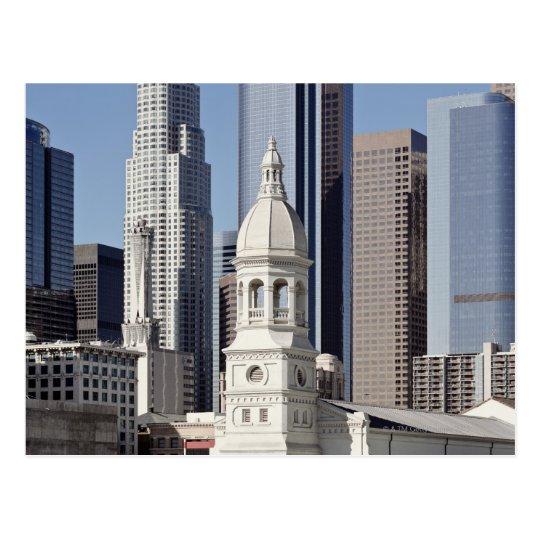 Los Angeles skyscraper buildings at midday Postcard