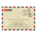 Los Angeles / SPAIN Airmail   Baby Shower 5x7 Paper Invitation Card