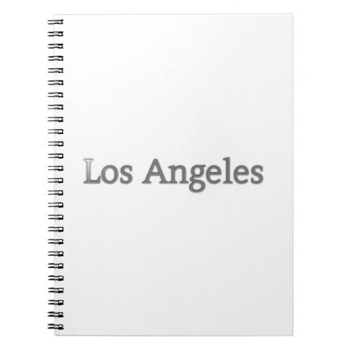 Los Angeles Spiral Note Books