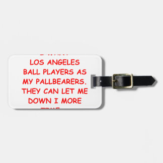 los angeles sports tags for luggage