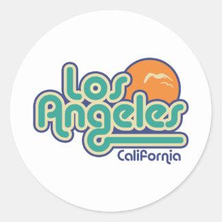 Los Angeles Round Stickers