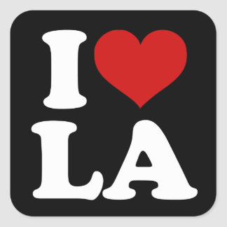 Los Angeles Square Stickers