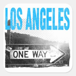 Los Angeles Square Sticker