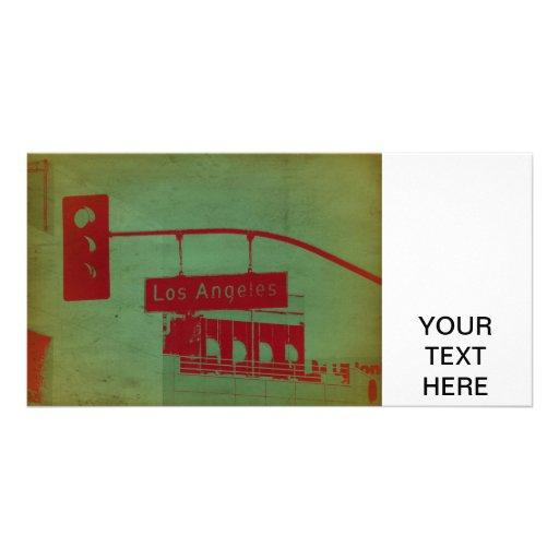 Los Angeles Street Custom Photo Card