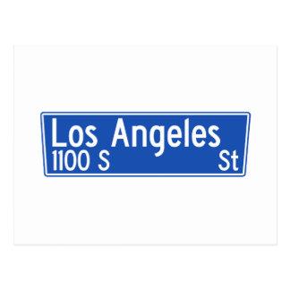 Los Angeles Street, Los Angeles, CA Street Sign Postcard