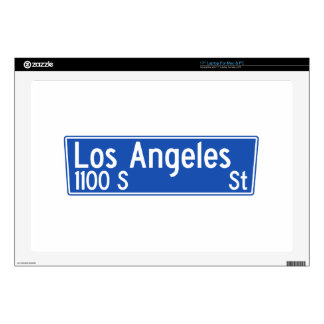 Los Angeles Street, Los Angeles, CA Street Sign Skins For Laptops