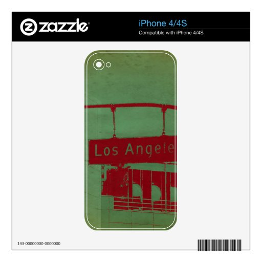 Los Angeles Street Skin For The iPhone 4