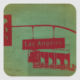 Los Angeles Street Square Sticker
