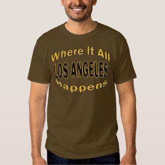 Los Ángeles sucede camiseta Playeras