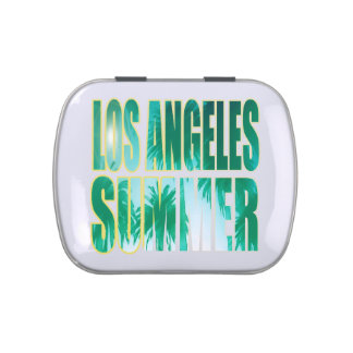 """""""Los Angeles Summer Letter Green"""" Candy Tin"""
