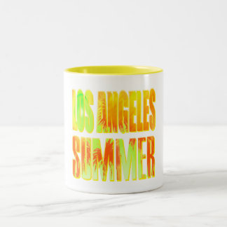 """""""Los Angeles Summer Letter Yellow Orange"""" Cup"""