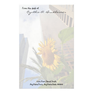 Los Angeles Sunflower Personalized Stationery