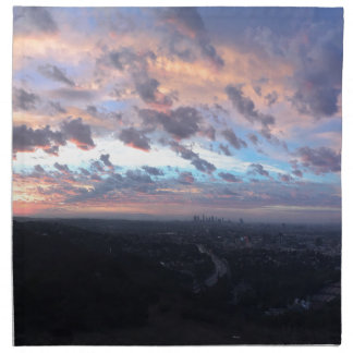 Los Angeles Sunrise off Mulholland Dr Cloth Napkin