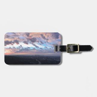 Los Angeles Sunrise off Mulholland Dr Luggage Tag