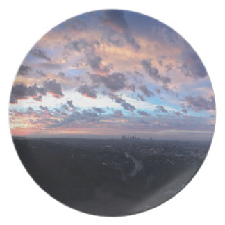 Los Angeles Sunrise off Mulholland Dr Melamine Plate