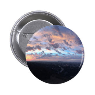 Los Angeles Sunrise off Mulholland Dr Pinback Button