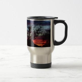 los angeles sunset travel mug