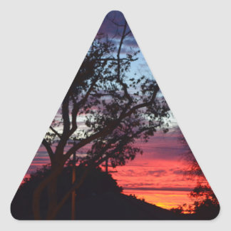 los angeles sunset triangle sticker