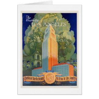 Los Angeles, the Wonder City Card