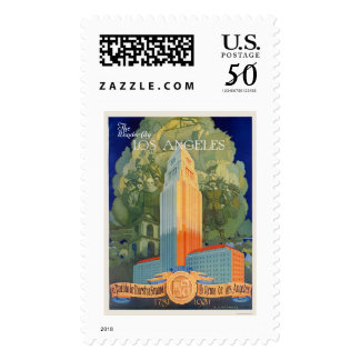 Los Angeles, the Wonder City Postage