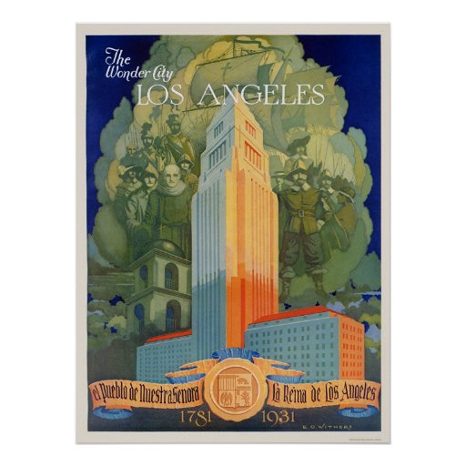 Los Angeles, the Wonder City Poster