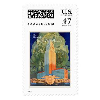 Los Angeles, the Wonder City Stamp
