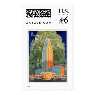 Los Angeles, the Wonder City Stamps