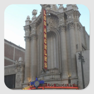 Los Angeles Theater Square Stickers