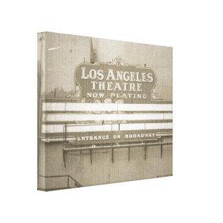 Los Angeles Theatre Sign Canvas Print