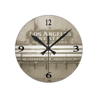 Los Angeles Theatre Sign Clock