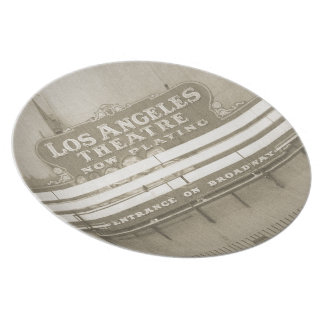 Los Angeles Theatre Sign Dinner Plate