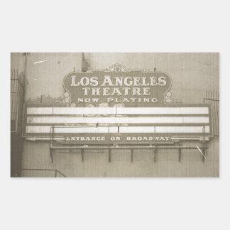 Los Angeles Theatre Sign Rectangular Sticker