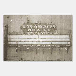 Los Angeles Theatre Sign