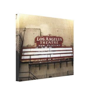 Los Angeles Theatre Vintage Sign Canvas Prints
