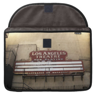 Los Angeles Theatre Vintage Sign Sleeves For MacBook Pro