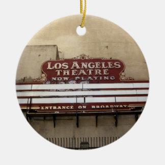 Los Angeles Theatre Vintage Sign Christmas Ornaments