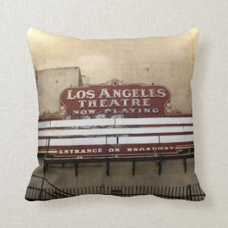 Los Angeles Theatre Vintage Sign Throw Pillows