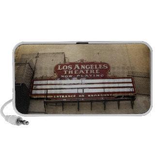 Los Angeles Theatre Vintage Sign Portable Speakers